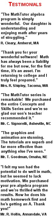teacher recommendations for algebra 2 learning program
